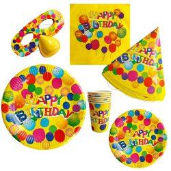 Set petrecere Happy Birthday pentru 6 copii