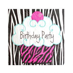 Servetele decorative pentru masa Cupcake Birthday Party
