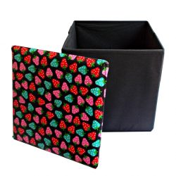 Taburet de depozitare Strawberry Black