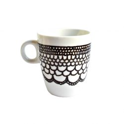 Cana handmade pentru cafea Black Dentelle