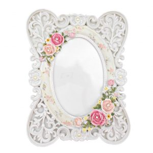 Rama foto Shabby Roses White