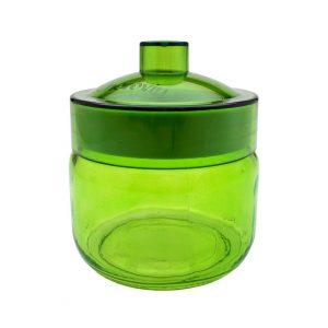 Borcan colorat  cu capac Green