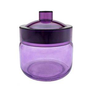 Borcan colorat cu capac Purple