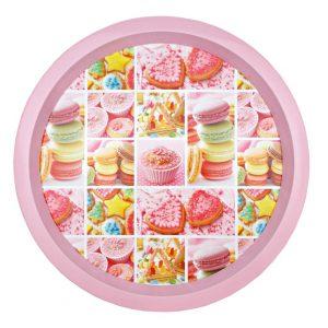 Platou metal pentru prajituri Delicious Desserts