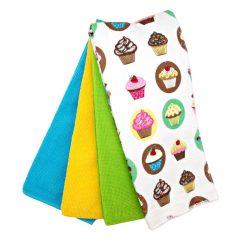 Set 4 prosoape de bucatarie Cupcakes