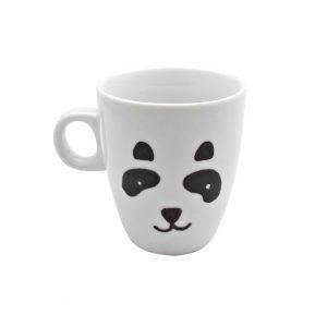 Cana pictata manual pentru cafea Panda