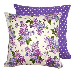 Fata de perna decorativa 40x40cm Fresh Lilacs Cream