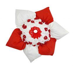 Perna decorativa handmade 45x45cm Floare cu flori