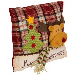 Perna decorativa de Craciun 33x33cm Rudolf and Christmas Tree