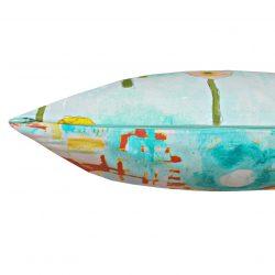 Fata de perna decorativa 40x40cm Gathered Poppies Aqua
