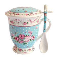 Cana cu filtru ceai Shabby Blue