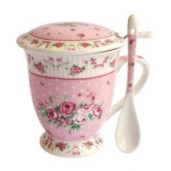Cana cu filtru ceai Shabby Rose
