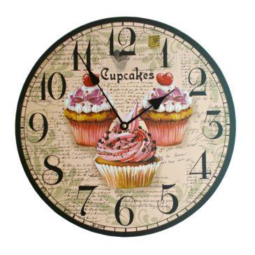 Ceas de perete Cupcakes