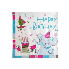 Servetele de masa Happy Birthday Elephant