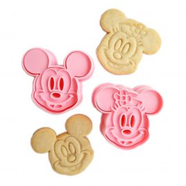 Set 2 decupatoare prajituri Minnie & Mickey Mouse