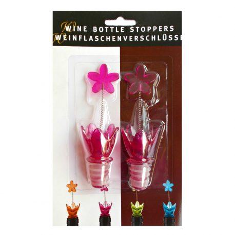 Set 2 dopuri sticla Pink Flower