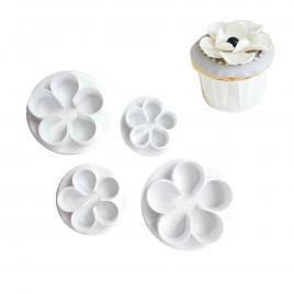 Set 4 forme prajituri Flowers