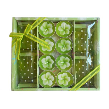 Set cadou 8 lumanari Green Flowers