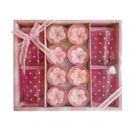 Set cadou 8 lumanari Pink Flowers