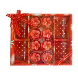 Set cadou 8 lumanari Red Flowers