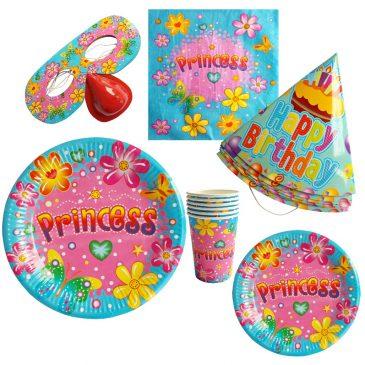 Set petrecere Princess pentru 6 copii
