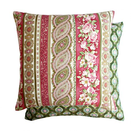 Fata de perna decorativa Vintage Damask Rose