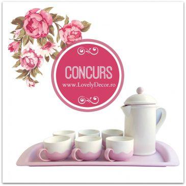 """CONCURS! Câștigă un Set pentru Ceai și Cafea cu infuzor """"Sweet Romance""""."""