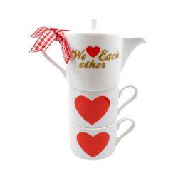 """Set pentru ceai """"We love each other"""""""