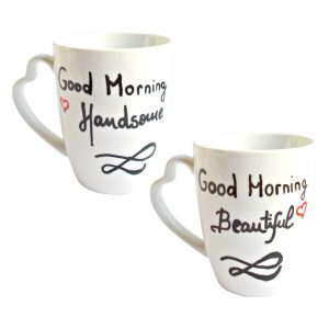 Set cani pictate manual Good Morning Handsome & Beautiful