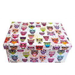 Cutie pliabila de depozitare Happy Owls