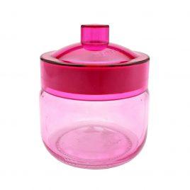Borcan colorat cu capac Pink