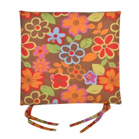 6 Perna scaun Flowers Brown