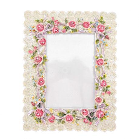 9 Rama foto Shabby Roses Dentelle