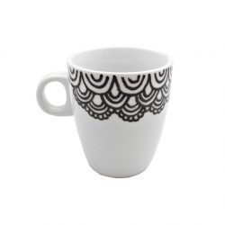 Cana pictata manual pentru cafea Dentelle