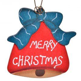Decoratiune de lemn Merry Christmas Bell