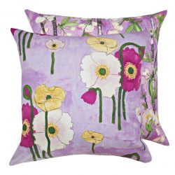 Fata de perna decorativa 40x40cm Gathered Poppies Orchid