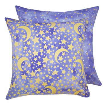 Fata de perna decorativa cu stelute aurii Moon And Stars