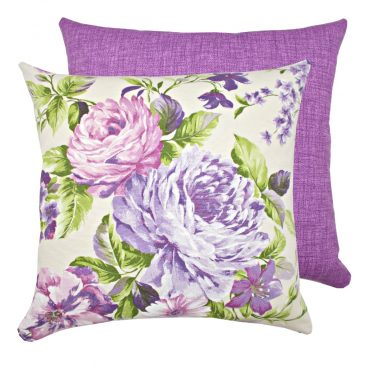 Fata de perna decorativa cu bujori 40x40cm Purple Blossom