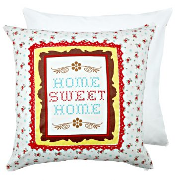 Fata de perna decorativa patchwork Home Sweet Home