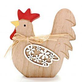 Cocos decorativ din lemn Chic Rooster