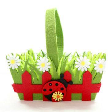Cos cadou de Primavara cu maner Spring LadyBird