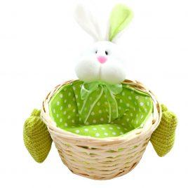 Cos decorativ cu iepuras Green Bunny