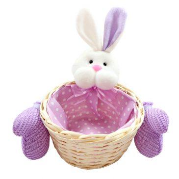 Cos decorativ cu iepuras Purple Bunny