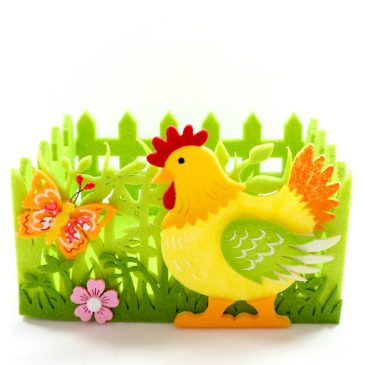 Cos decorativ de Pasti cu gaina Spring Hen