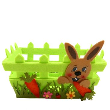 Cos decorativ de Pasti cu iepuras Spring Bunny