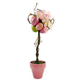 Ghiveci decorativ cu aranjament floral de Pasti