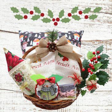 Cos cadou Craciun pentru nasi Christmas Deluxe