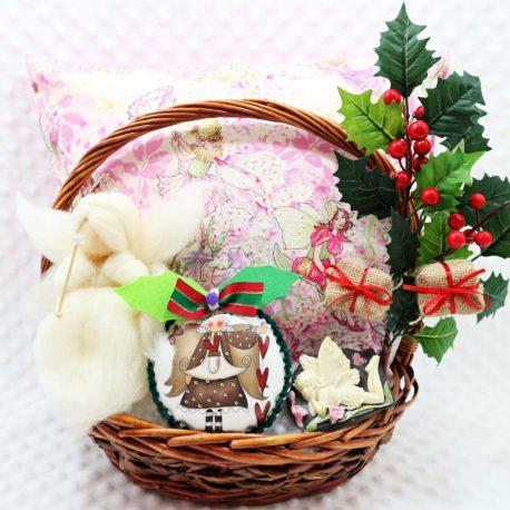 Cos cadou Craciun zane handmade Christmas Fairytale