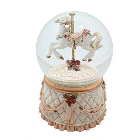 Glob de sticla muzical Vintage Carousel