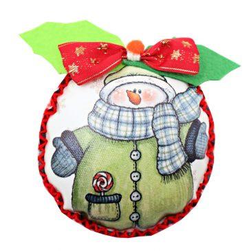 Glob handmade de Craciun Snowman's Hug